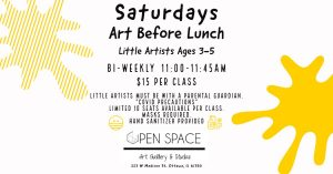 Art Before Lunch - Little Artists Ages 3-5