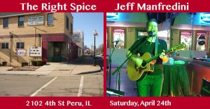 Music by Jeff Manfredini @ The Right Spice - Sat. ...