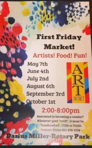 First Friday Market in Princeton's Art District