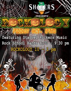 Rockology Halloween Party @ Shaker's featuring the...